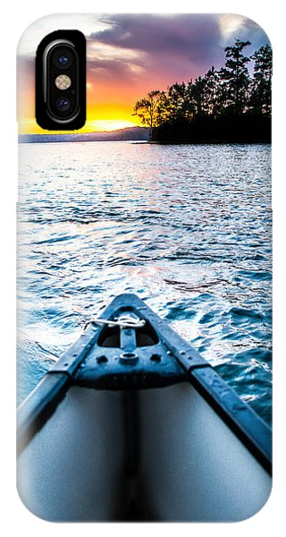Canoeing In Paradise IPhone Case