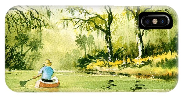 Wakulla iPhone Case - Canoeing The Rivers Of Florida II by Bill Holkham