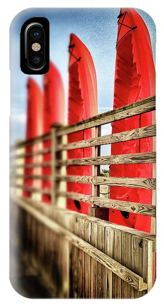 Canoes And Walkway, Surf City, North Carolina IPhone Case