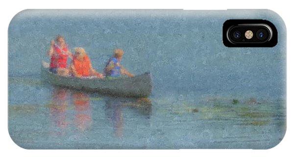 Canoes On Shovelshop Pond IPhone Case