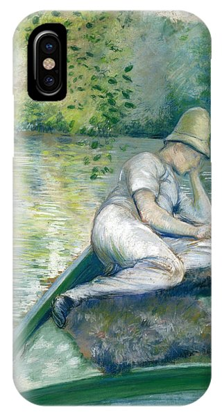 Impressionistic iPhone Case - Canotier Sur L'yerres by Gustave Caillebotte