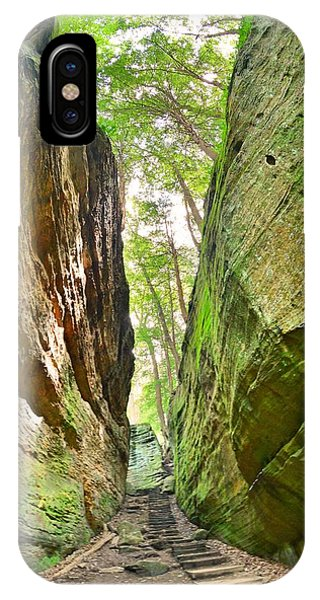 Cantwell Cliffs Trail Hocking Hills Ohio IPhone Case