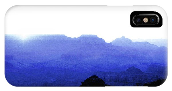 Canyon In Blue IPhone Case