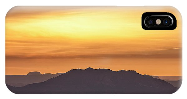 IPhone Case featuring the photograph Canyon Layers With Fiery Sunrise by Denise Bush