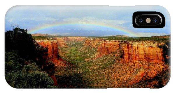 Canyon Rainbow Phone Case by Ellen  Leigh