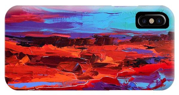 Fauvism iPhone Case - Canyon At Dusk - Art By Elise Palmigiani by Elise Palmigiani