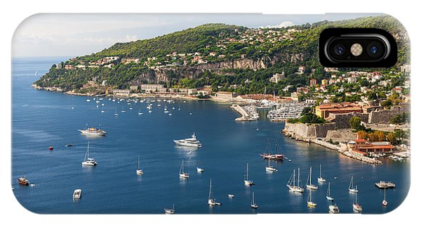 French Riviera iPhone Case - Cap De Nice And Villefranche-sur-mer On French Riviera by Elena Elisseeva