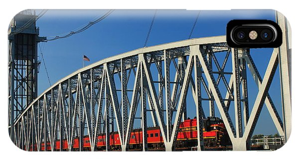 Cape Cod Canal Railroad Bridge Train IPhone Case
