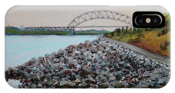 Cape Cod Canal To The Bourne Bridge IPhone Case