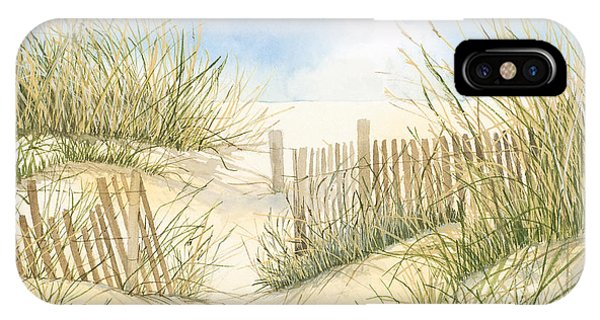 Cape Cod Dunes And Fence IPhone Case