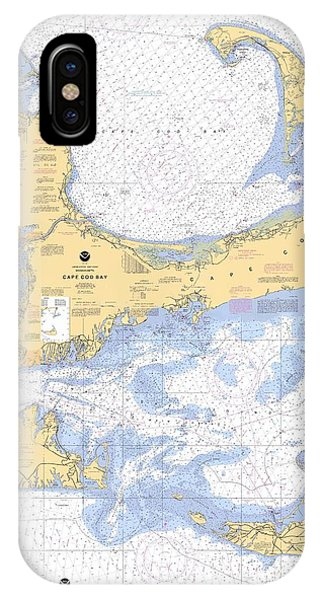 Cape Cod, Martha's Vineyard And Nantucket Nautical Chart IPhone Case