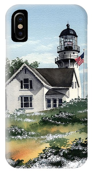 Lighthouse Wall Decor iPhone Case - Cape Elizabeth Lighthouse by David Rogers