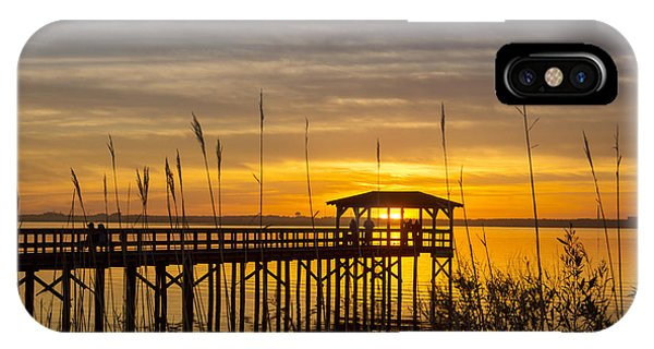 Cape Fear Sunset Fort Fisher IPhone Case