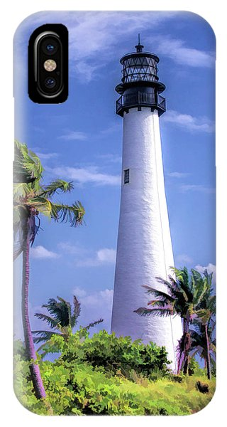 IPhone Case featuring the painting Cape Florida Lighthouse by Christopher Arndt