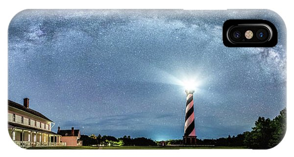 Cape Hatteras Light House Milky Way Panoramic IPhone Case
