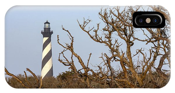 Cape Hatteras Lighthouse Through The Brush IPhone Case