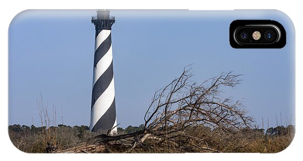 Cape Hatteras Lighthouse With Driftwood IPhone Case