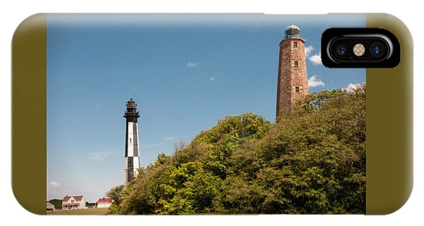 Cape Henry Lighthouses Old And New IPhone Case