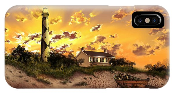 Cape Lookout Lighthouse 2 IPhone Case