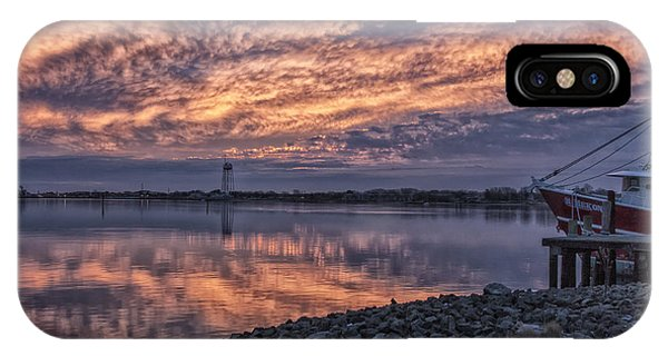 Cape May Harbor Sunrise IPhone Case