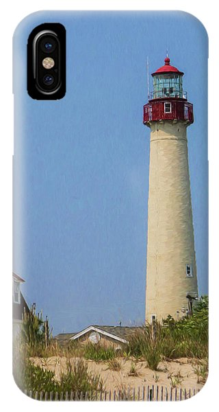 Cape May Lighthouse Vertical IPhone Case