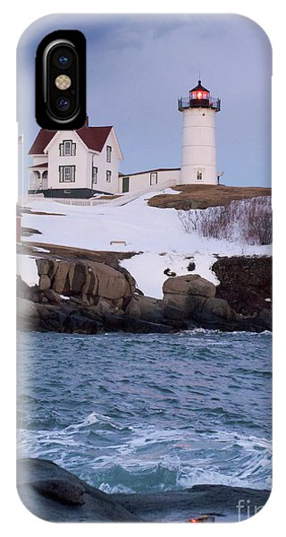 Cape Neddick Light At Dusk, York, Maine 21073 IPhone Case