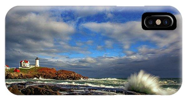 Navigation iPhone Case - Cape Neddick Lighthouse by Rick Berk