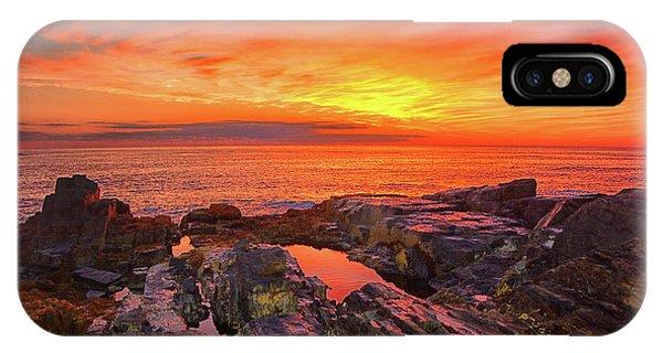 Cape Neddick Sunrise IPhone Case