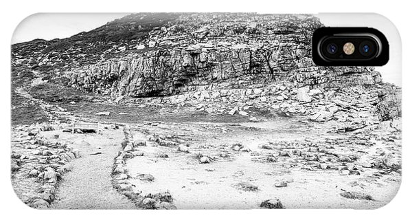 IPhone Case featuring the photograph Cape Of Good Hope Landscape Black And White by Tim Hester
