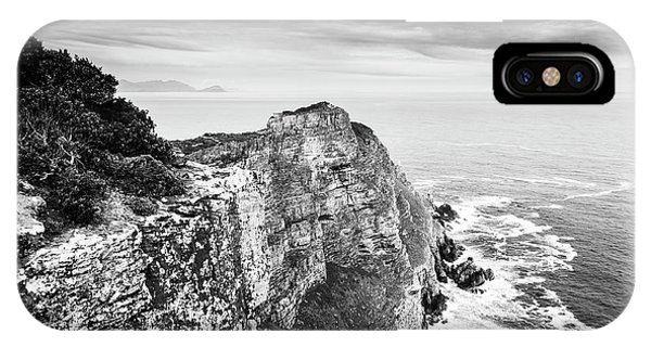 IPhone Case featuring the photograph Cape Of Good Hope South Africa Black And White by Tim Hester