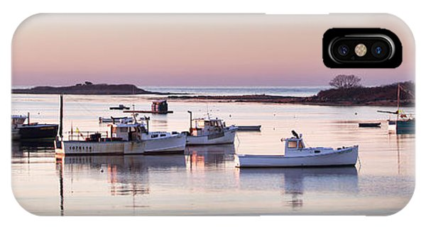 Cape Porpoise Harbor Panorama IPhone Case