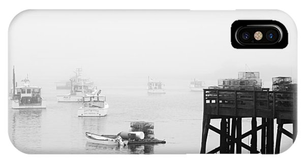 Cape Porpoise Lobster Boats In Fog IPhone Case