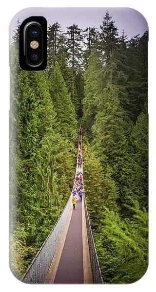 Capilano Suspension Bridge, North Vancouver, Canada IPhone Case