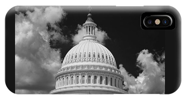 D.c. iPhone Case - Capital Dome Washington D C  B W by Steve Gadomski