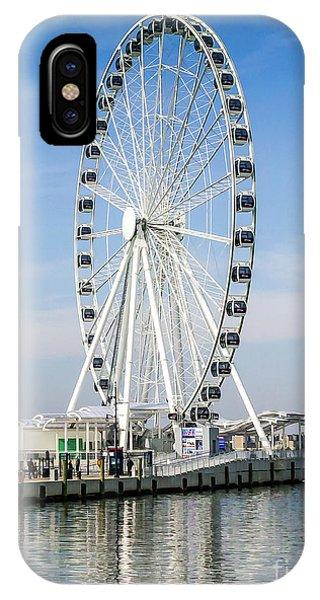 Capital Ferris Wheel IPhone Case