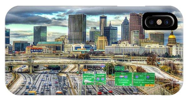 Capital Of The South Atlanta Skyline Cityscape Art IPhone Case