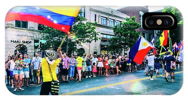 Gay Pride Flag iPhone Case - Capital Pride Parade 2016 by Jonas Luis