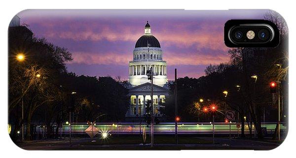 Capital Sunrise IPhone Case