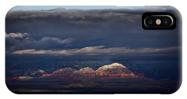 Capitol Butte In Sedona With Snow IPhone Case
