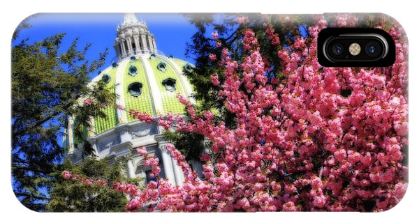 Capitol In Bloom IPhone Case