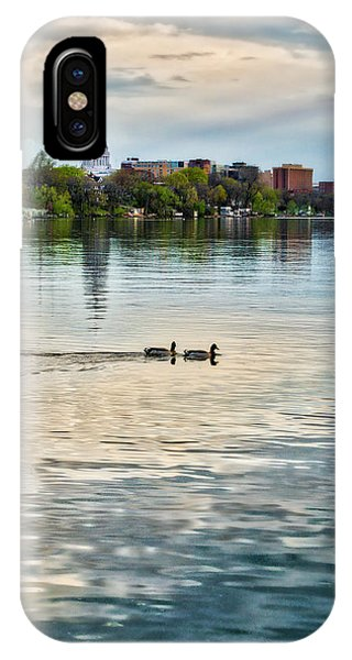 Capitol -madison-wisconsin From Tenney Park IPhone Case