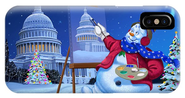Capitol iPhone Case - Capitol Christmas by Michael Humphries