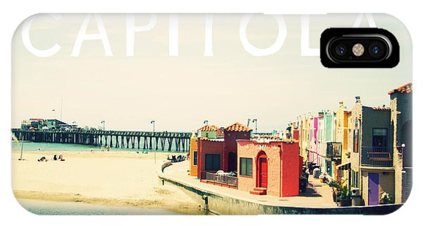 California iPhone Case - Capitola by Linda Woods