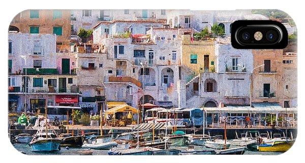 Capri Boat Harbor IPhone Case