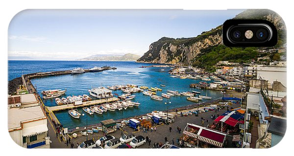 IPhone Case featuring the photograph Capri Harbor by Mike Evangelist
