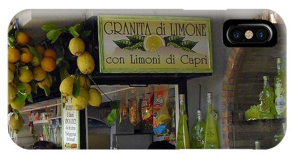 Capri Street Scene Con Limoni IPhone Case