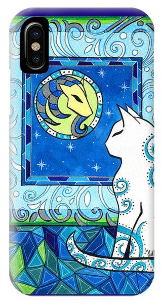 Capricorn Cat Zodiac IPhone Case
