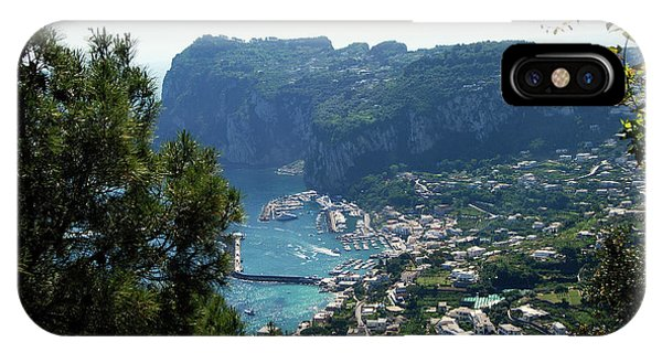 Capri's Marina Grande From The Villa San Michele In Anacapri IPhone Case