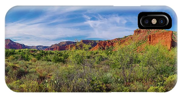 Caprock Canyon Panorama 2 IPhone Case