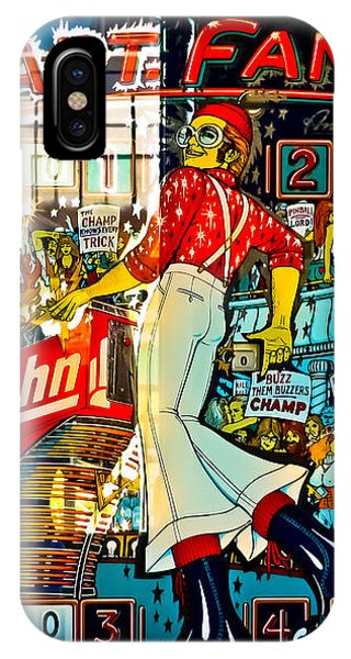 Elton John iPhone Case - Captain Fantastic - Pinball by Colleen Kammerer